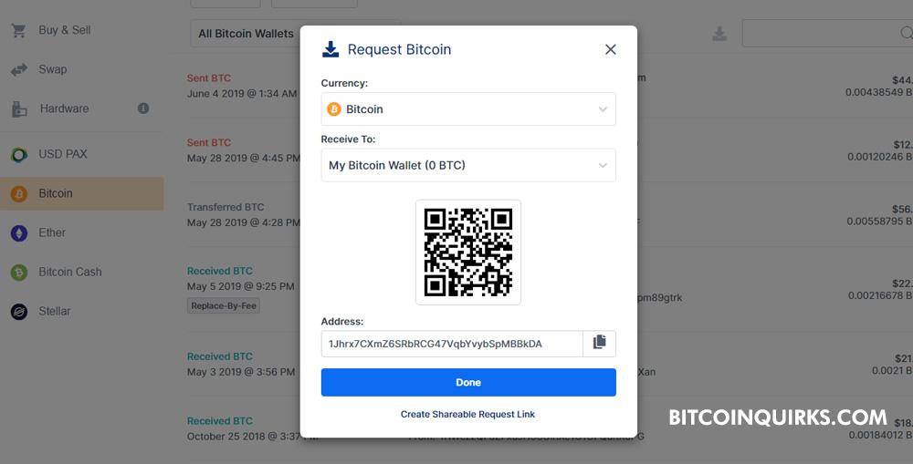 Blockchain Wallet Address