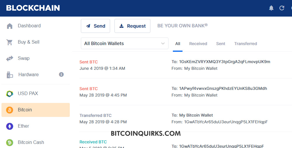 Blockchain Wallet Transactions