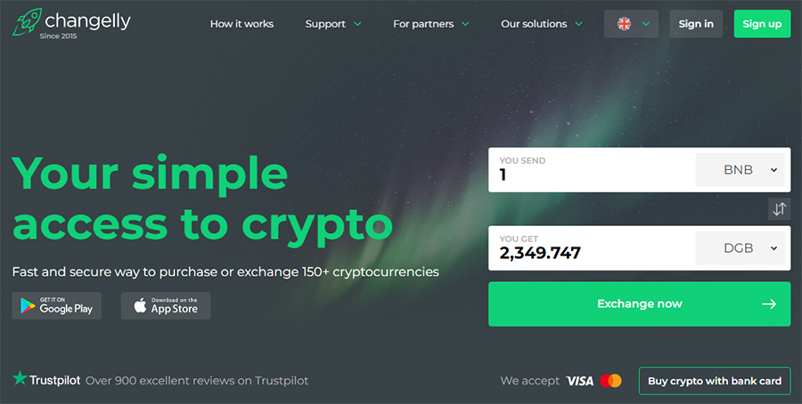Changelly Crypto Exchange
