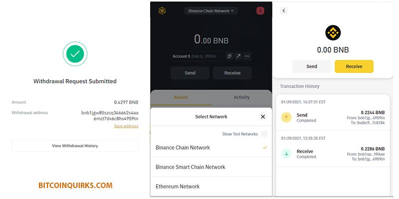 BNB Binance Chain Network Wallet