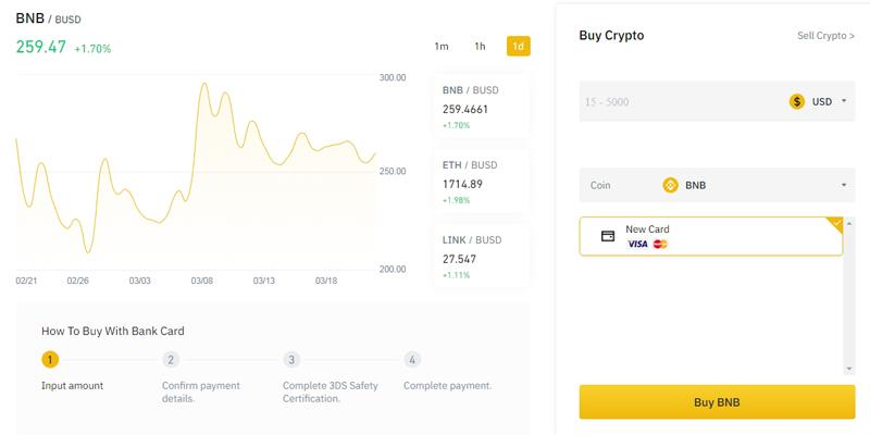 how to buy binance coin bnb