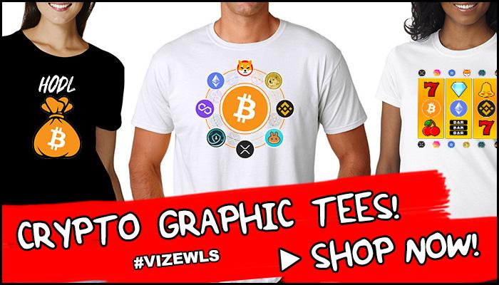 Buy Crypto Tees - #Vizewls