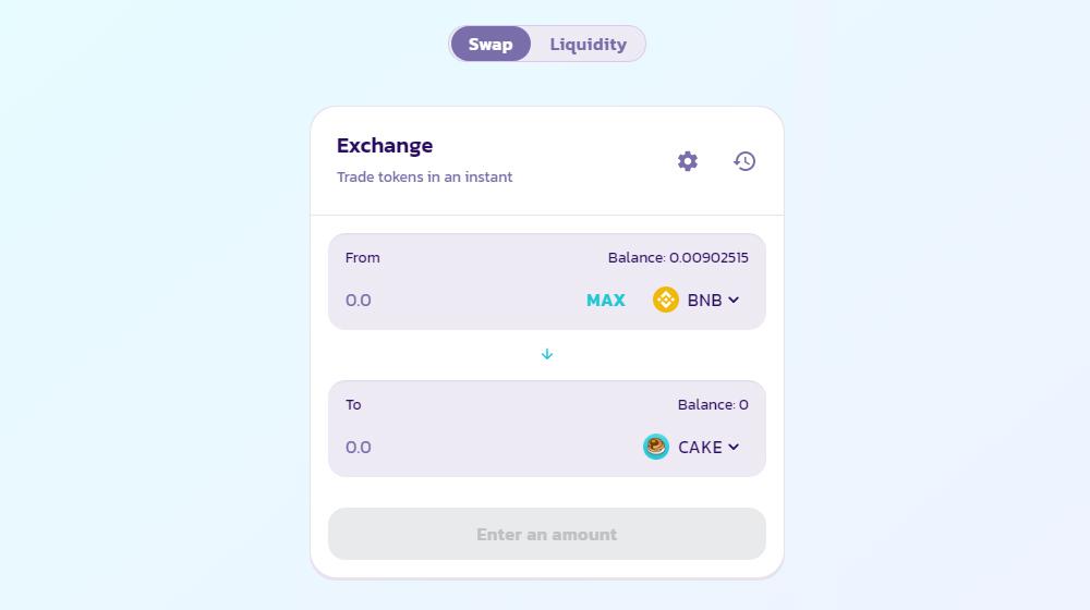 bsc pancakeswap exchange